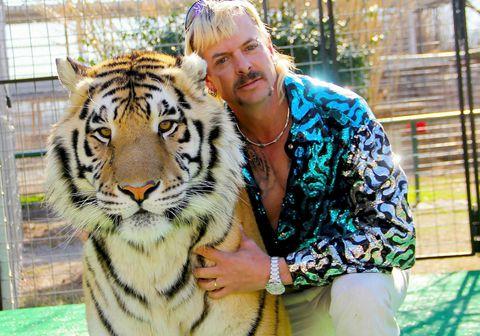 """Tígrisdýrakóngurinn Joe Exotic var dæmdur í 22 ára fangelsi í janúar á árinu meðal annars fyrir tilraun til morðs á dýraverndarsinna og illa meðferð á dýrum. Fjallað er um líf hans og ótrúlega atburðarrásina sem leiddi til fangelsisvistar í þáttunum """"Tiger King"""" á Netflix."""