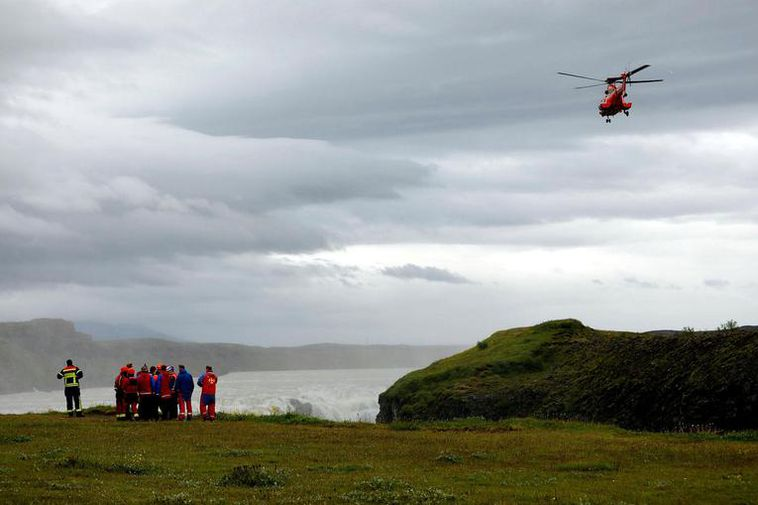 The search by Gullfoss is ongoing.