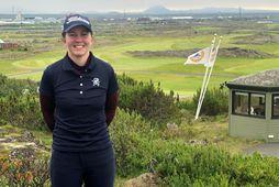 Ragnhildur Kristinsdóttir úr Golfklúbbi Reykjavíkur sigraði í Hvaleyrarbikarnum í golfi í dag.