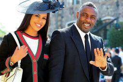 Breski leikarinn Idris Elba ásamt eiginkonu sinni, Sabrina.