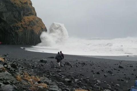 Úr myndskeiðinu sem Sigurður tók.