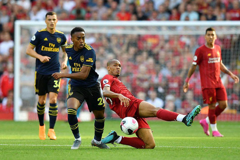 Joe Willock í lið gegn Liverpool.