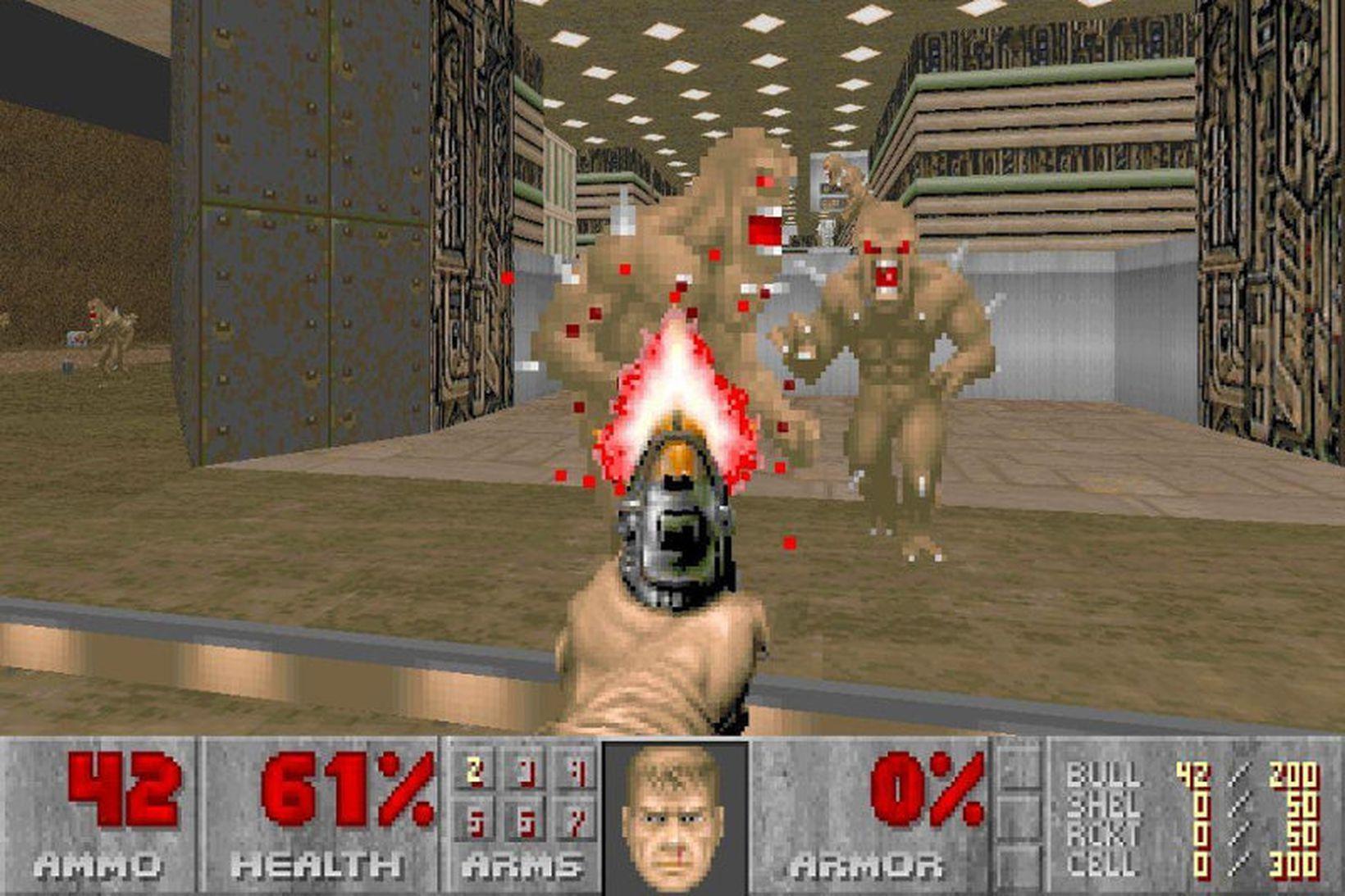 Doom var bylting í skotleikjum þegar hann kom út árið …
