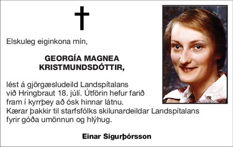 Georgía Magnea Kristmundsdóttir,