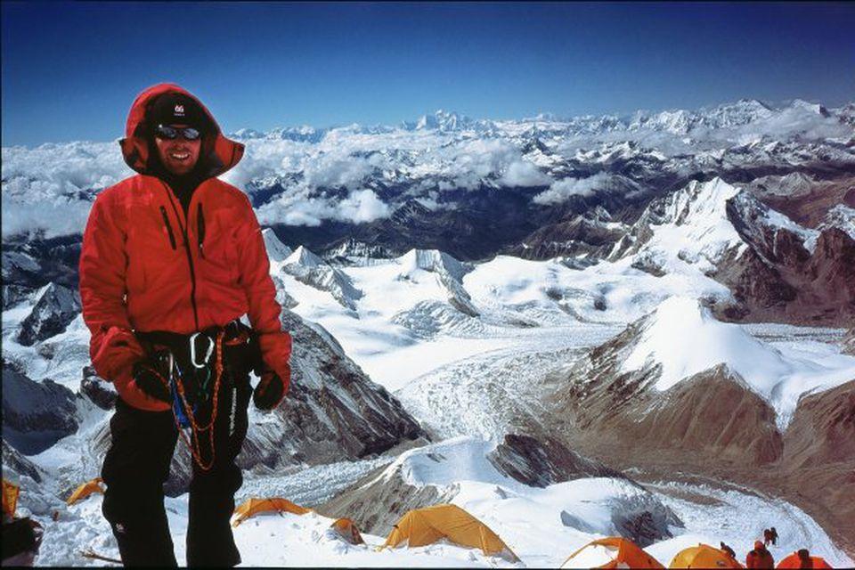 Leifur Örn kleif fjallið Cho Oyu á landamærum Tíbets og Nepals árið 2007 en það …