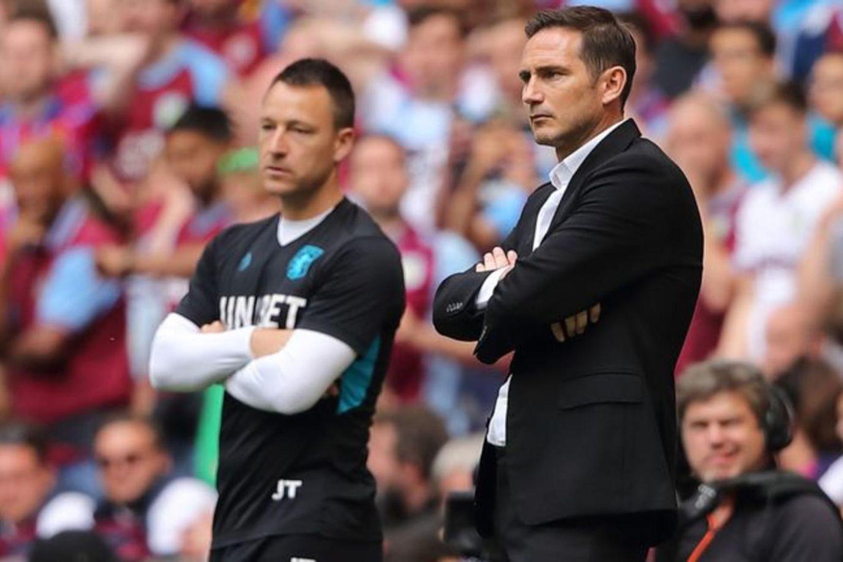 Terry og Lampard mættust í úrslitum umspilsins í B-deildinni á …