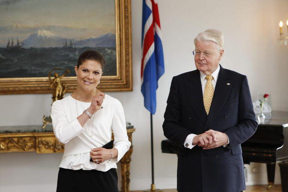 Viktoría krónprinsessa Svíþjóðar og Ólafur Ragnar Grímsson, forseti Íslands