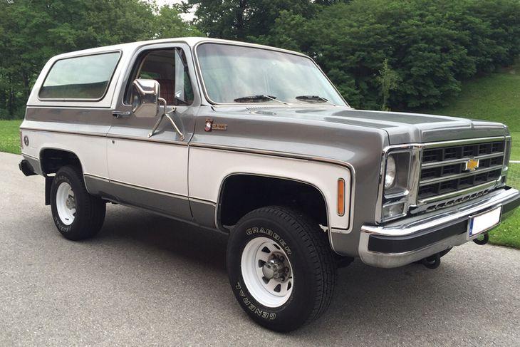 Chevrolet Blazer frá í árdaga bílsins árið 1979.