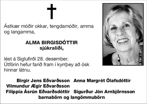 Alma Birgisdóttir