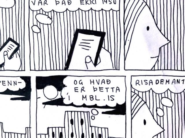 Bára Blöndal and the diamond comics