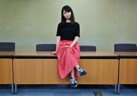 Yumi Ishikawa berst fyrir auknum réttindum kvenna í Japan.