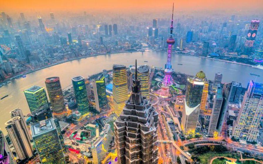 Sjanghæ í Kína er ein af stærri borgum í heimi.