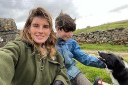 Amanda Owens á níu börn og býr í sveitinni í Yorkshire í Bretlandi.