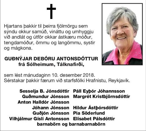 Guðnýjar Debóru Antonsdóttur