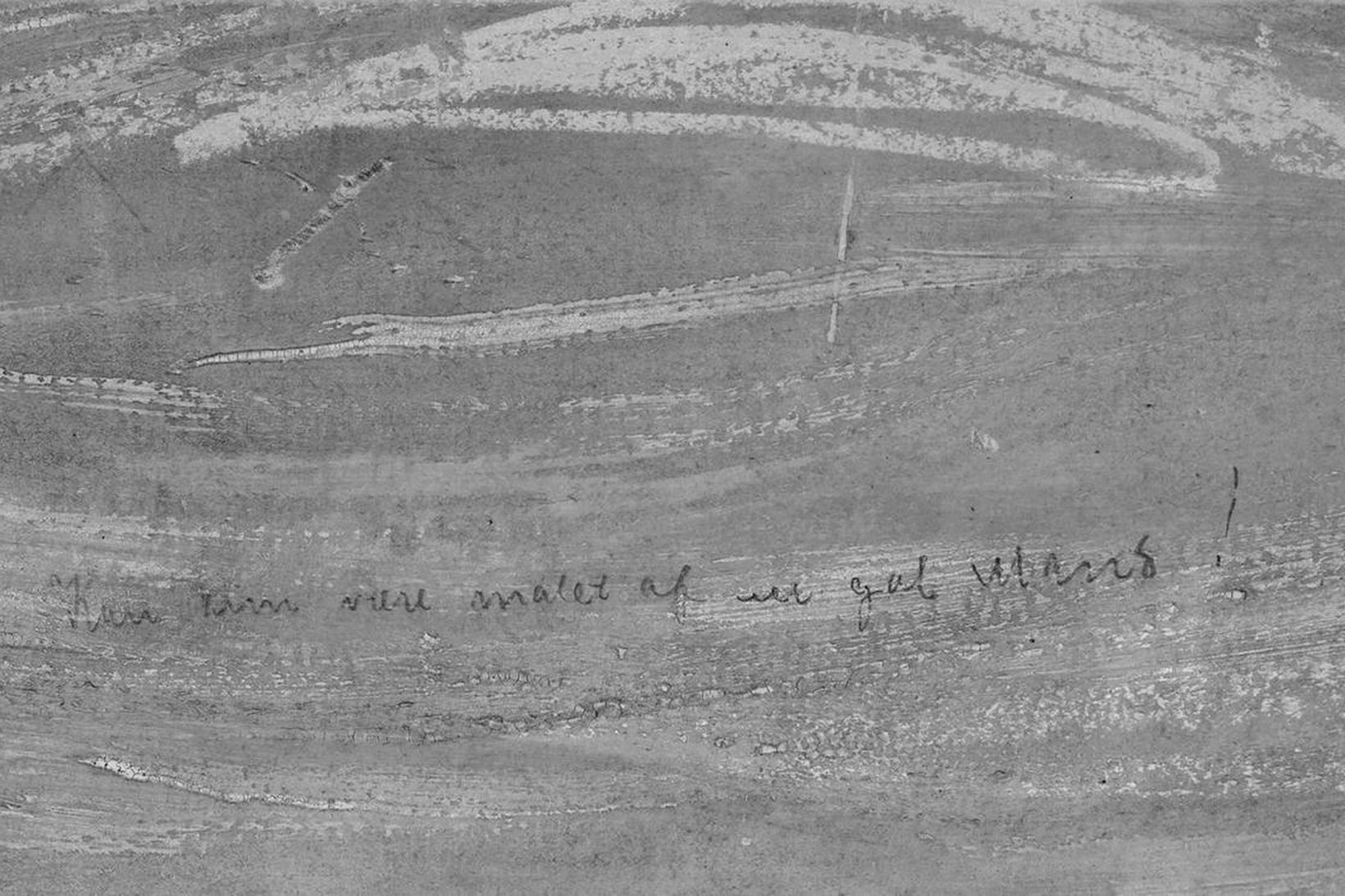 """""""Áletrunin er án vafa eftir Munch sjálfan,"""" segir safnvörðurinn."""