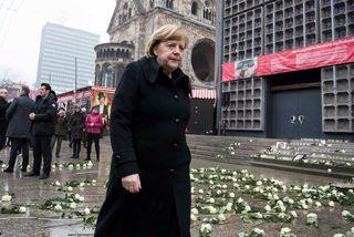 Angela Merkel, kanslari Þýskalands, ávarpaði samkomu í dag sem haldin var í tilefni af því ...