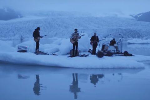 Kaleo performing live at Fjallsárlón glacial lagoon.