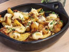 Mergjað meðlæti: Hvítlauks parmesan kartöflubátar
