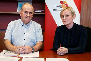 Björn Snæbjörnsson, formaður Starfsgreinasambandsins, og Sólveig Anna Jónsdóttir, formaður Eflingar.