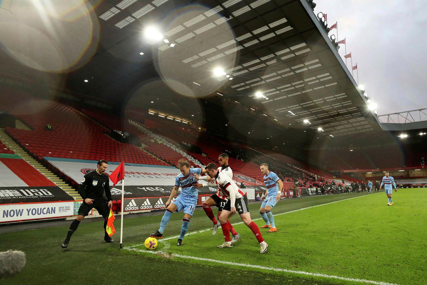 Úr leik Sheffield United og West Ham United um síðustu …