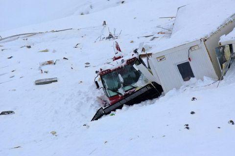 Major damage in the ski area.