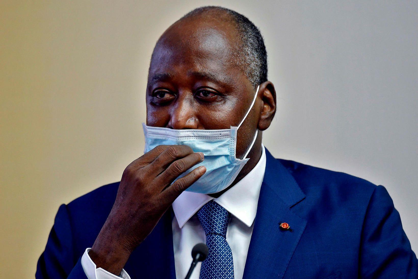 Amadou Gon Coulibaly, forsætisráðherra Fílabeinstrandarinnar, lést í dag.