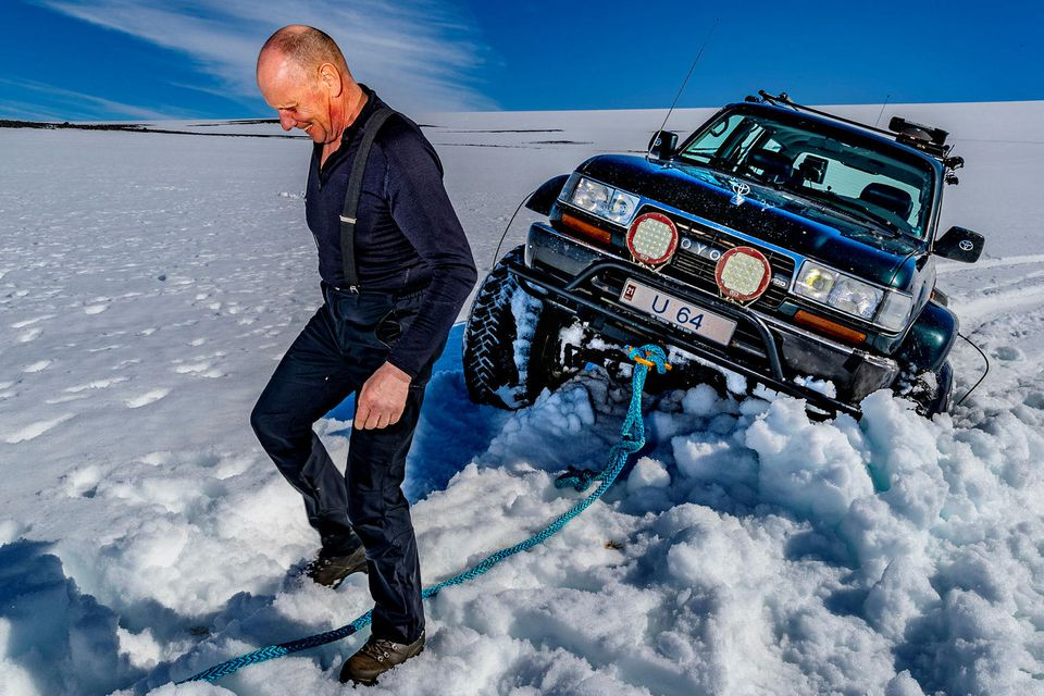 Björgólfur Kristinsson sýndi lipra takta á jöklinum.