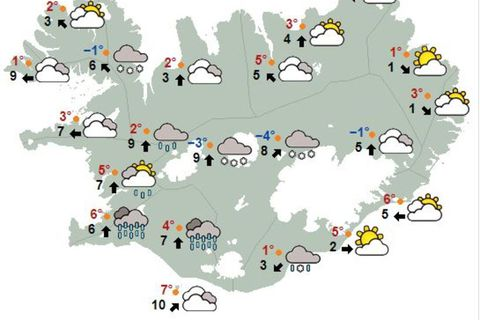 Weather at noon today.