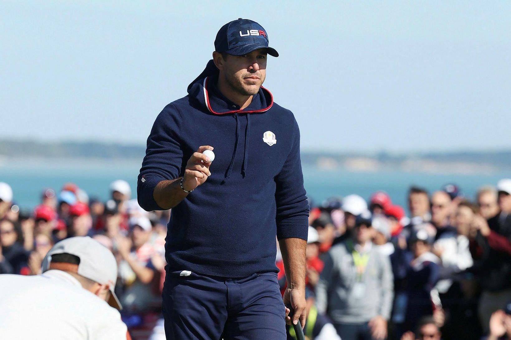 Brooks Koepka hefur fjórum sinnum sigrað á risamótunum í golfi.
