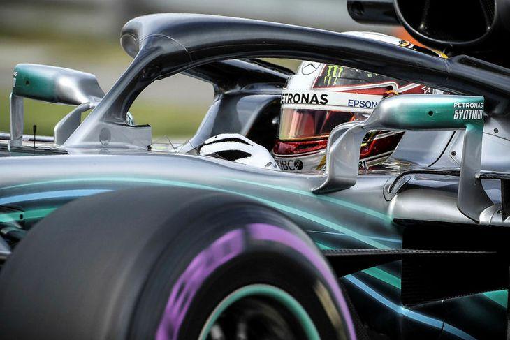 Lewis Hamilton í Sotsjí í dag.