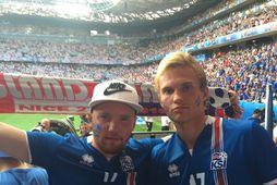 Baldvin Rúnarsson (t.v.) á einum af leikjum Íslands á EM 2016.