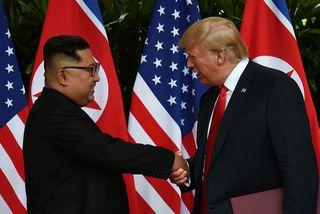 Vel virtist fara á með Trump og Kim á fundinum í vikunni.