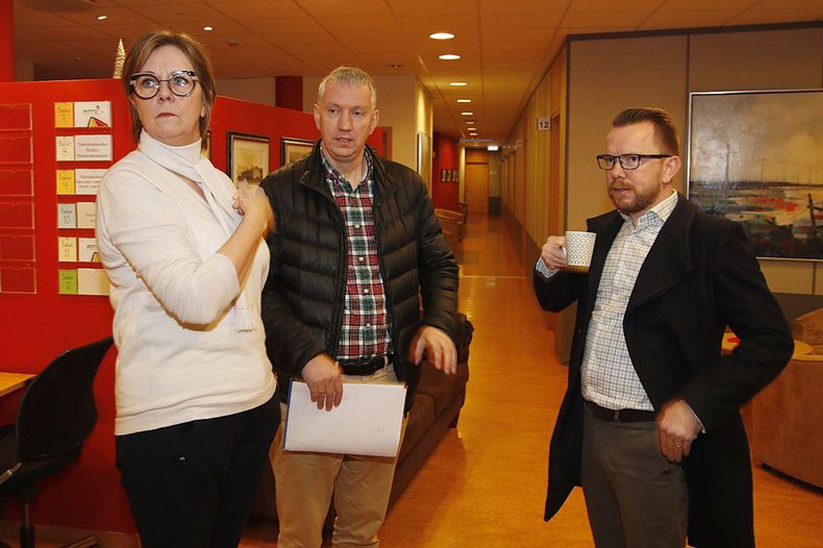 Fulltrúar VR, Eflingar og VLFA mættu á fund hjá ríkissáttasemjara …