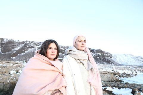 Tinna Sverrisdóttir and Lára Rúnarsdóttir at Andagift, a new centre for cacao ceremonies and kundalini yoga in Reykjavik.