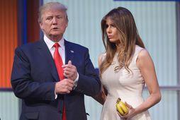 Donald Trump og eiginkona hans Melania Trump.