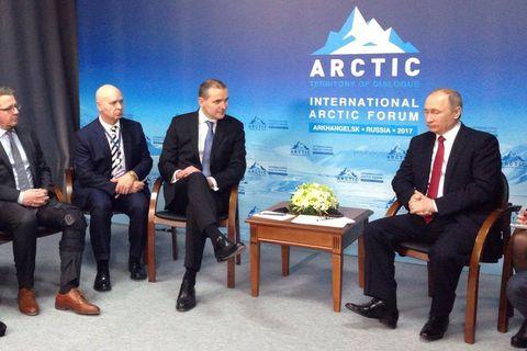 Foreign Minister Guðlaugur Þór Þórðarson and President Guðni Th. Jóhannesson met with Vladimír Pútín President of Russia today.