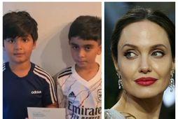 Angelina Jolie styrkti söfnun þeirra Ayaans Moosa og Mikaeels Ishaaqs.