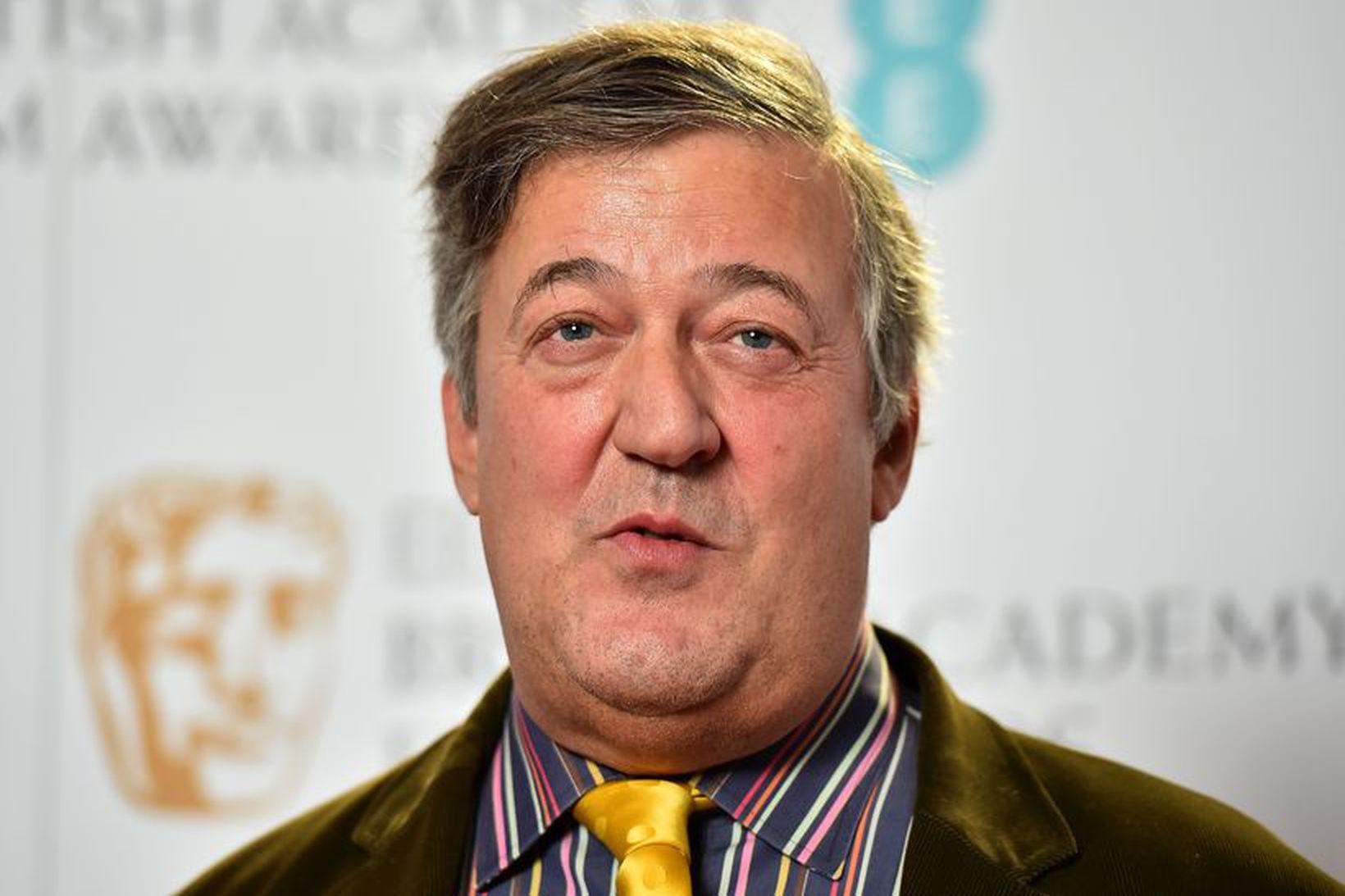 Breski leikarinn Stephen Fry.