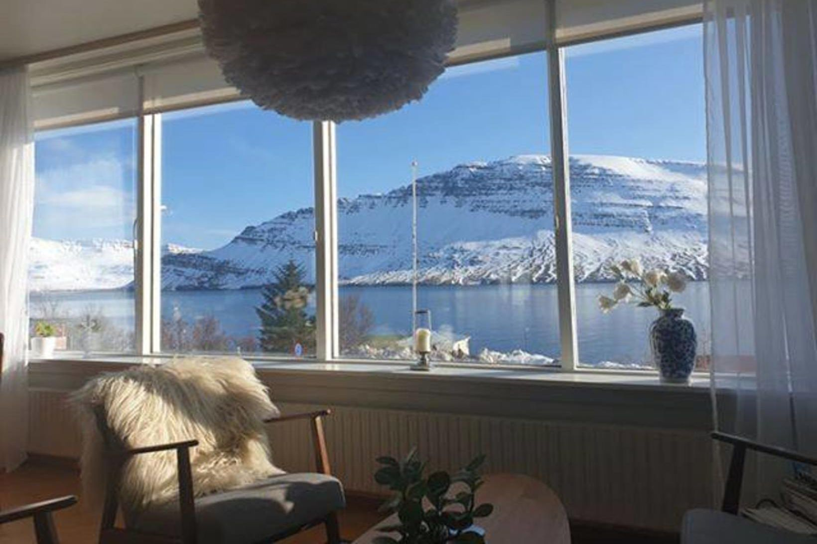 Stórkostlegt útsýni í Neskaupstað. Fjölmargir tóku þátt í áskorun Veðurstofunnar …