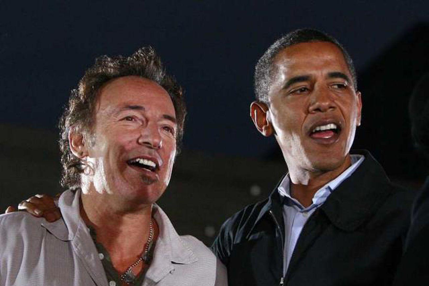 Bruce Springsteen ásamt Barack Obama