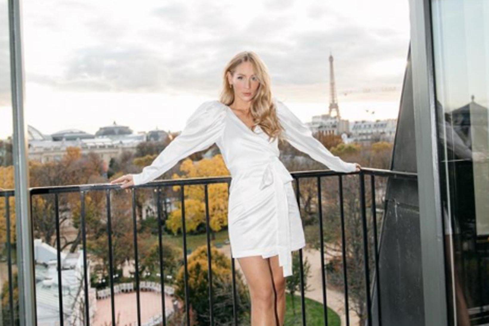 Carin Olson kann einstaklega vel við sig í París.