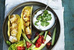 Fiski-taco er skemmtileg tilbreyting við fiskrétti.