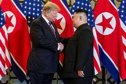Forseti Bandaríkjanna, Donald Trump, og leiðtogi Norður-Kóreu, Kim Jong Un.