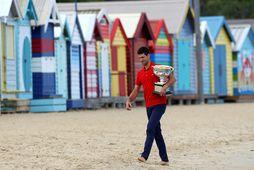 Novak Djokovic vann á sínu átjánda risamóti á ferlinum um síðustu helgi.