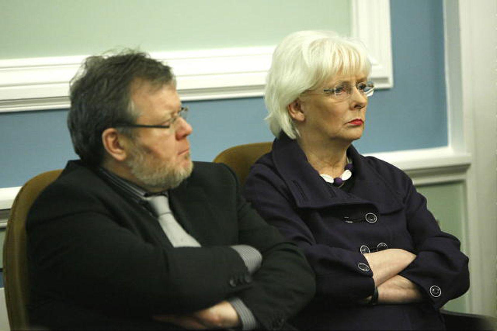 Össur Skarphéðinsson, utanríkisráðherra, og Jóhanna Sigurðardóttir, forsætisráðherra.