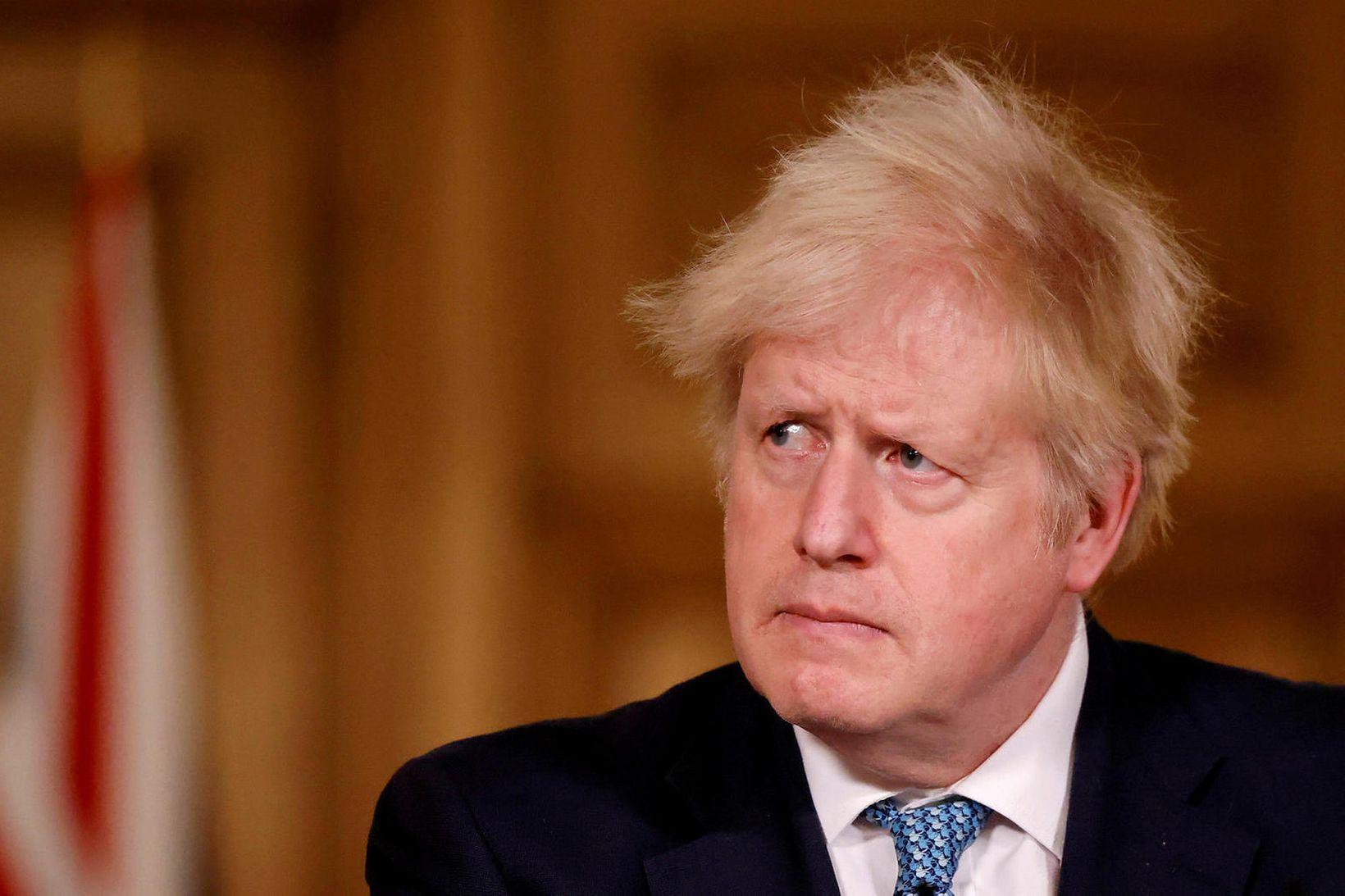 Boris Johnson, forsætisráðherra Bretlands, segir margt benda til þess að …