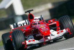 Ferrari við reynsluakstur í Mugello.