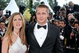 Jennifer Aniston og Brad Pitt árið 2004.