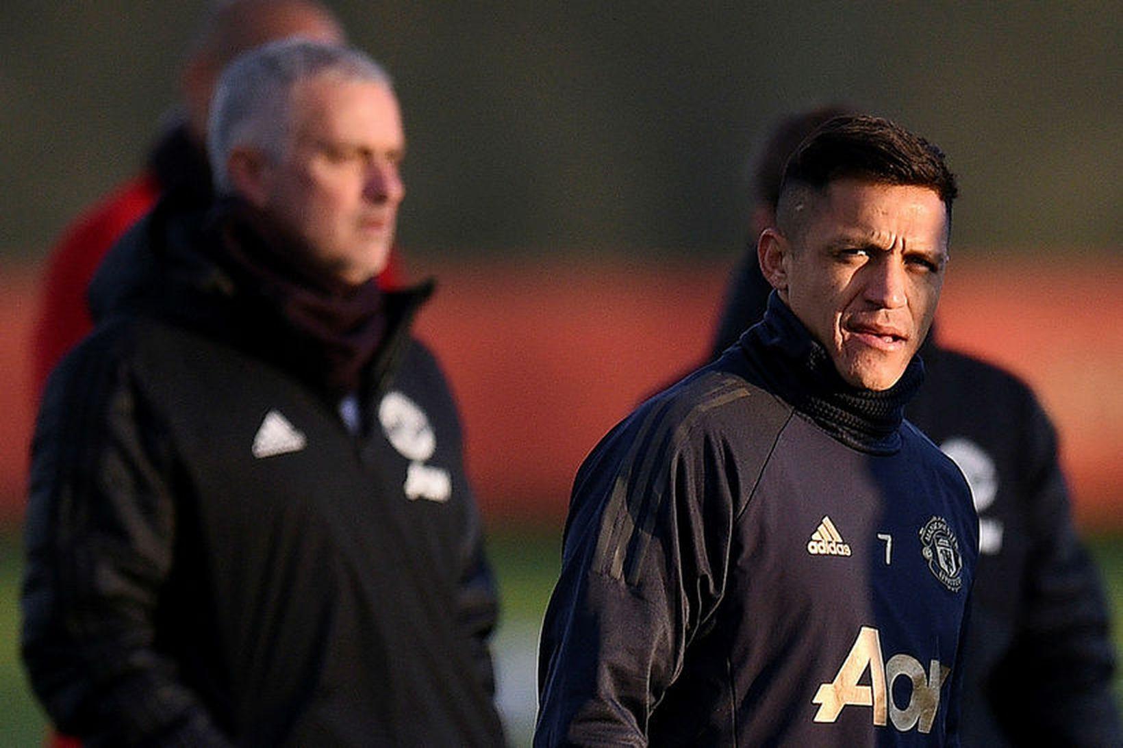 Alexis Sánchez og José Mourinho unnu saman hjá Manchester United …