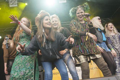 Among the bands performing at Austurvöllur square tomorrow afternoon are female rappers Reykjavíkurdætur.